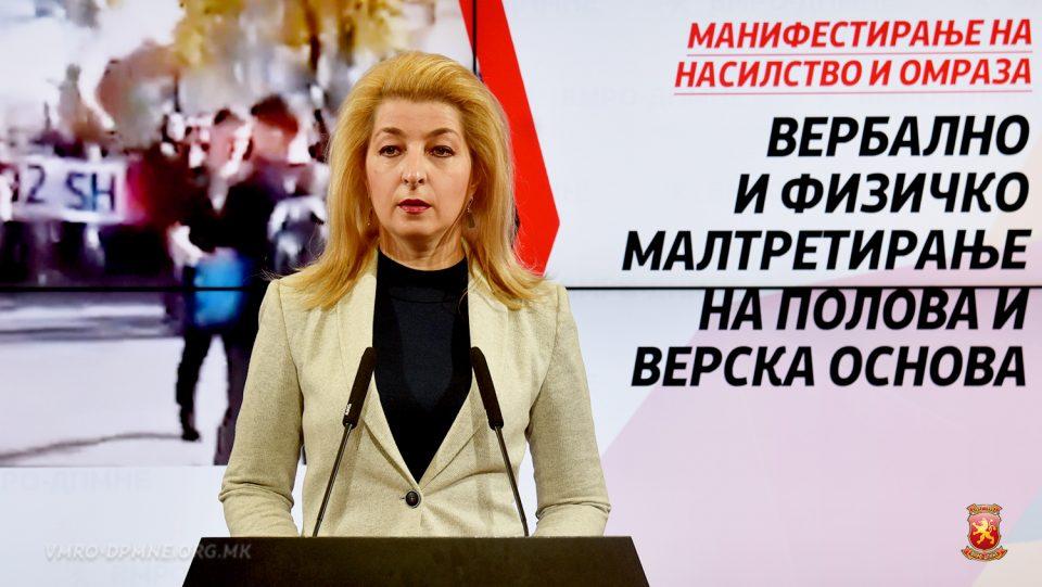 Ласовска: Однесувањата на министрите на СДСМ се навистина многу дрски и многу арогантни
