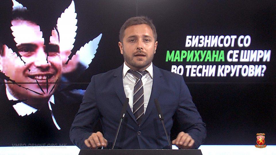 Арсовски: Бизнисот со марихуана врти-сучи пак се поврзува со премиерот Заев