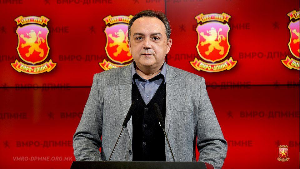 Менкиноски: ВМРО-ДПМНЕ бара избор на Јавниот обвинител по нивни предлог- решение кое ќе ја ефектуира независноста и неутралноста