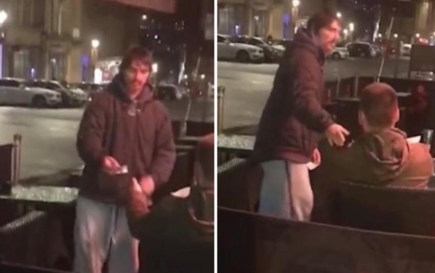 Големото срце на едно момче и скромноста на бездомникот: Му ја дал својата картичка и се шокирал колку пари извадил (ВИДЕО)