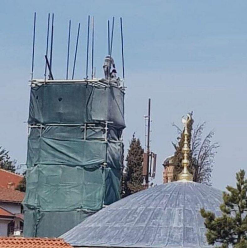 ФОТО: Незаконски се гради минарето во Охрид-Заев лобира да му се дозволи градба?!