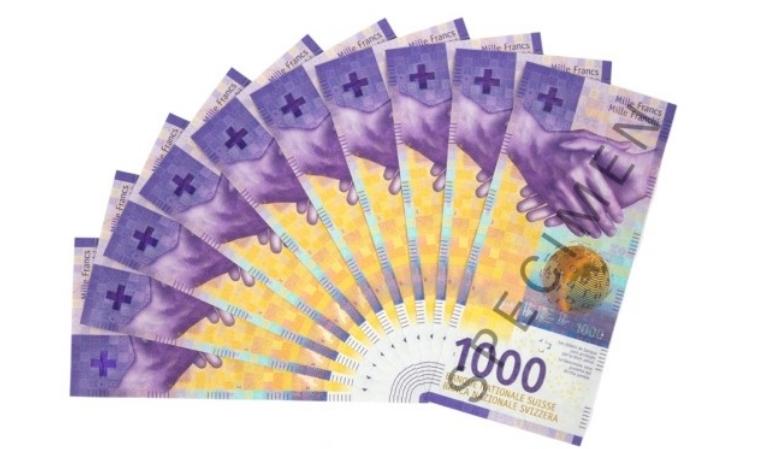 Нова банкнота од илјада швајцарски франци