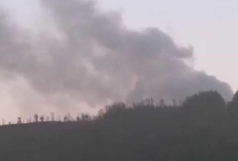 ФОТО: Голем пожар во Сушица цел регион без струја