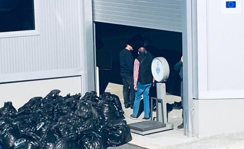 Пратка со 500 килограми марихуана откриена на ГП Табановце (ФОТО)
