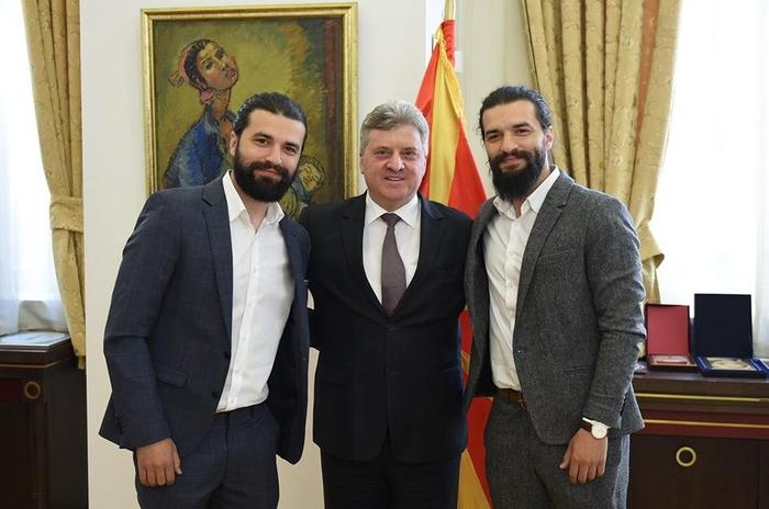 Мартин и Стефан на прием кај претседателот Иванов (ФОТО)