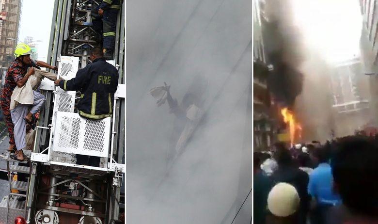 Страшна снимки: Луѓе скокаат од висококатница во пламен (ВИДЕО)