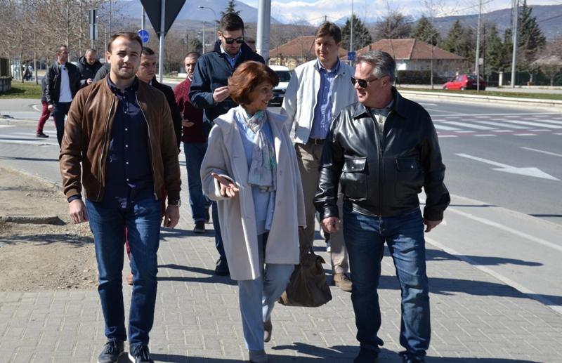 Силјановска во посета на граѓаните на Ѓорче Петров:  Без правична и социјална држава, никој не може да зборува за политички успеси и евроинтеграции