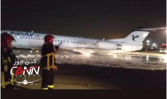 Се запали авион при слетување во Техеран, сите патници евакуирани