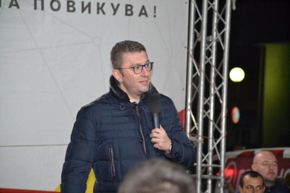 Мицкоски: Со поддршка на Силјановска и победа на изборите ќе се отвори вратата за предвремените парламентарни избори во Македонија