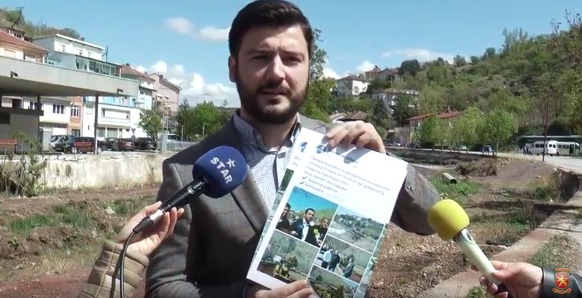 Јорданов: Две години се манипулира дека се уредува коритото на реката Отиња во должина од 300 метри, кое беше оставено да се доврши од претходната власт
