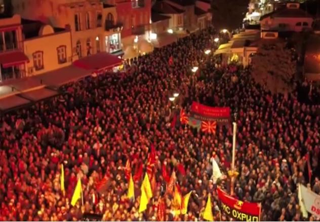Мицкоски: Ова е борбата за иднината на Македонија (ВИДЕО ОД ДРОН)