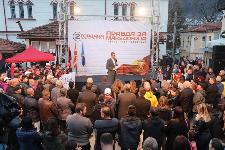 Мицкоски од Крушево: На оваа генерација и падна честа да ја крене Македонија од пепелта која ќе ја наследиме и ќе ни ја остави Зоран Заев