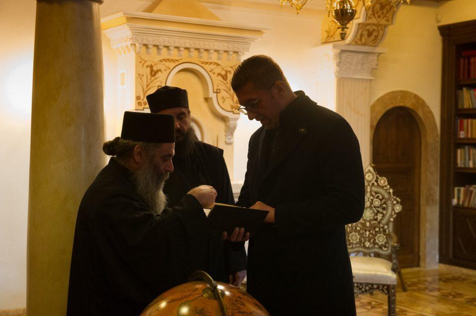 ФОТО: Мицкоски во посета на Бигорскиот манастир