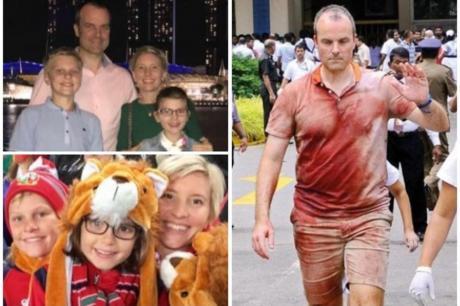 ФОТО: Британец целиот крвав лутал по болници во Шри Ланка да си го пронајде семејството