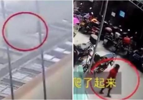 ВИДЕО: Девојче паднало од 26. спрат и се спасило- само станало и заминало