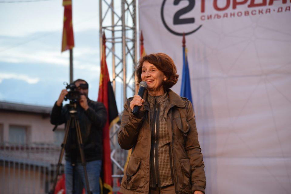 Силјановска: Обединување и заедништво на сите граѓани и масовно излегување на изборите се со цел враќање на правото и правдините во Македонија