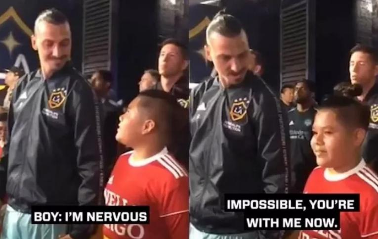 Малото момче беше вознемирено покрај Ибрахимовиќ, па фудбалерот покажа колку е голем човек (ВИДЕО)
