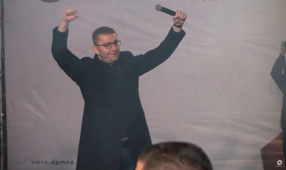 Мицкоски: По победата на Силјановска Давкова, ќе бидеме на улица додека не бидат распишани предвремени парламентарни избори