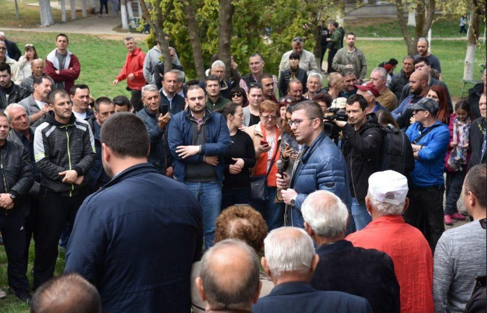 Мицкоски до граѓаните: Придружете ни се денес на најголемиот сенароден митинг, да се бориме сонот за Македонија да стане јаве