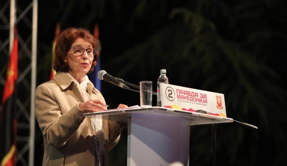 """""""Кога овие луѓе ја парчеа и тргуваа со Македонија, професорката Силјановска Давкова беше на браникот на татковината"""""""