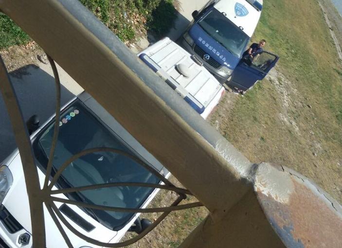 ФОТО: Вардар исфрли труп кај комплекс банки