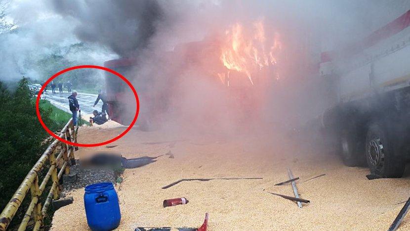 Страшна глетка на автопатот во Ниш: По судирот на автобус и камион изгореа четворица патници (ФОТО)