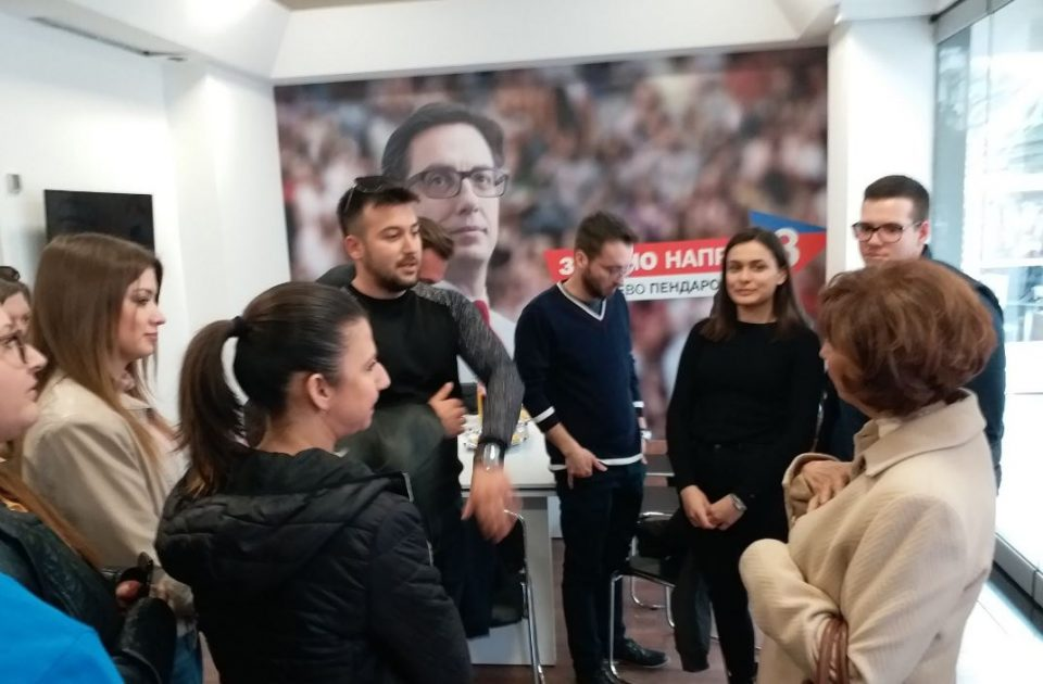 По испиеното кафе со Река, Силјановска денеска во посета на штабот на Пендаровски (ФОТО)