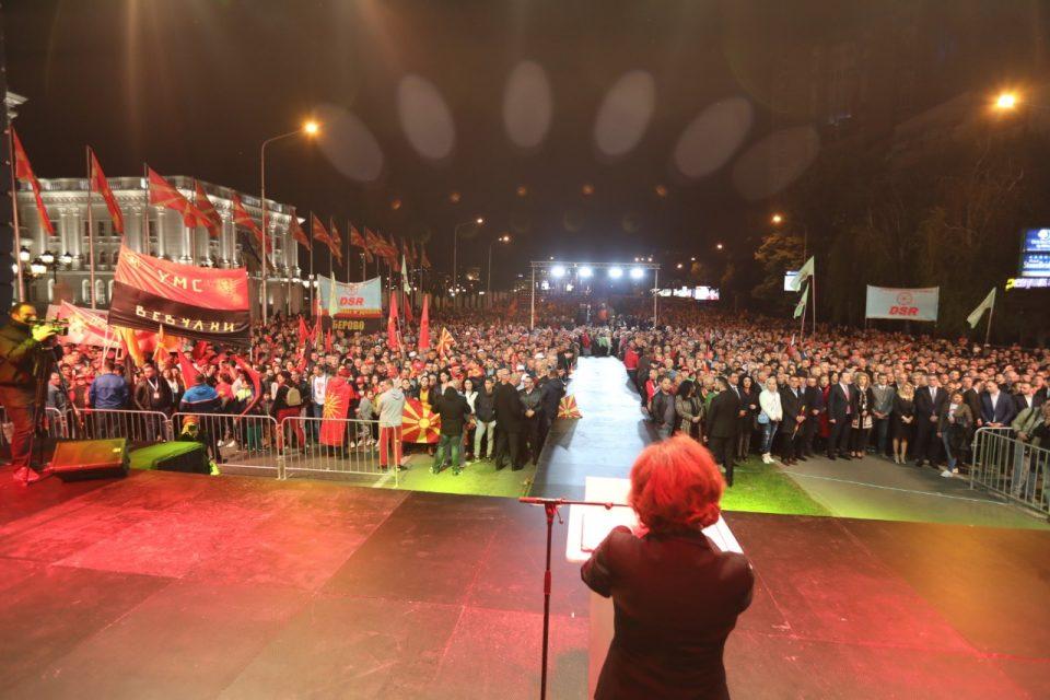 ВМРО-ДПМНЕ: Народот ќе избере жена Претседател, на Македонија и треба правда, татковината повикува