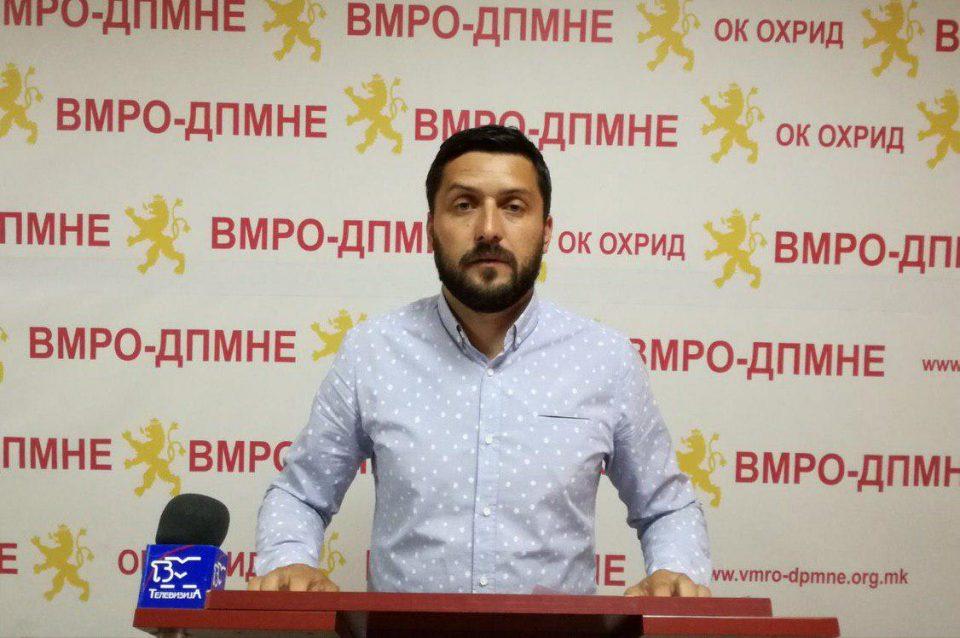 ВМРО-ДПМНЕ ОК Охрид: Дали Георгиески мисли дека со лажните градежни зафати ќе го нашминка градот и ќе ги купи гласовите на Охриѓани?