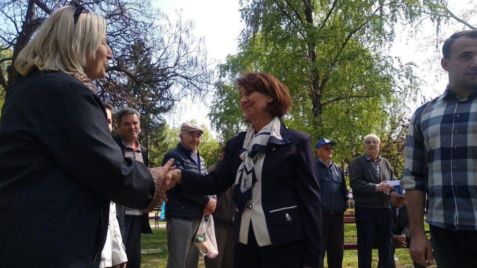 Силјановска од Ѓорче Петров: Граѓаните изразуваат поддршка во борбата против заевизмот и залагањата за право и правда за сите во Македонија