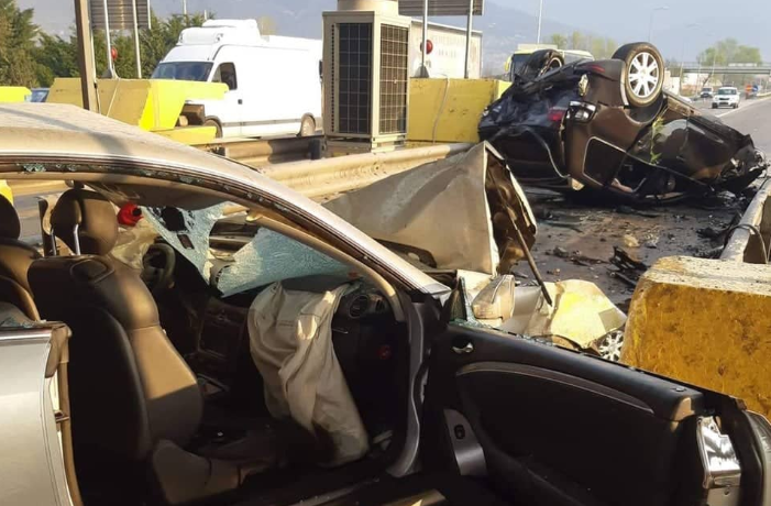 ВИДЕО: На ова место се случи кобната несреќа во Македонија во која загина жена- автомобилот превртен наопаку