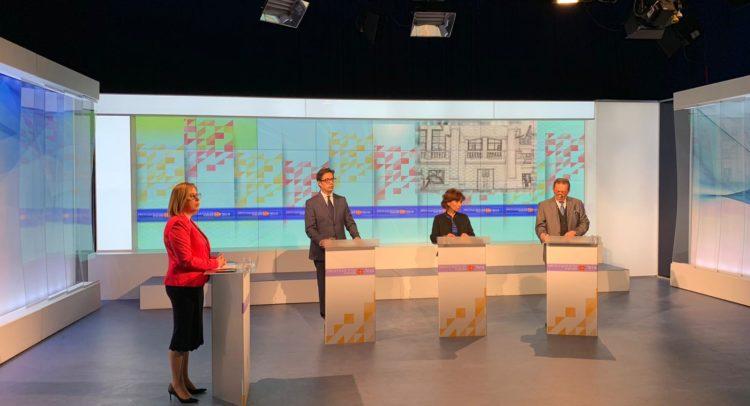 Вечерва прва телевизиска дебата помеѓу Пендаровски, Силјановска Давкова и Река