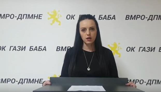 Ташевска од ОК Гази Баба: Георгиевски вие заборавате ама граѓаните не забораваат што им ветувавте