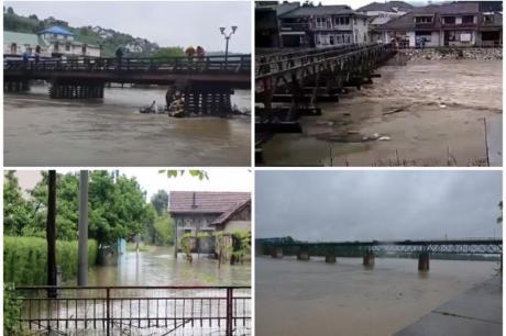 Водостоите во постојан пораст: На некои места евакуирани жителите (ВИДЕО)