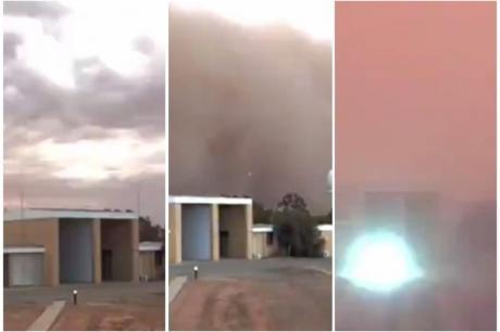 """ВИДЕО: Песочна бура го """"проголта"""" градот за 5 минути- апокалиптични сцени"""