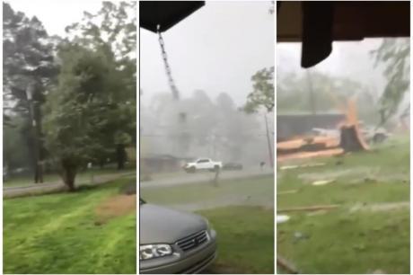 ВИДЕО: Снимаше како врне, па оддеднаш настана хаос, ветер носеше се пред себе