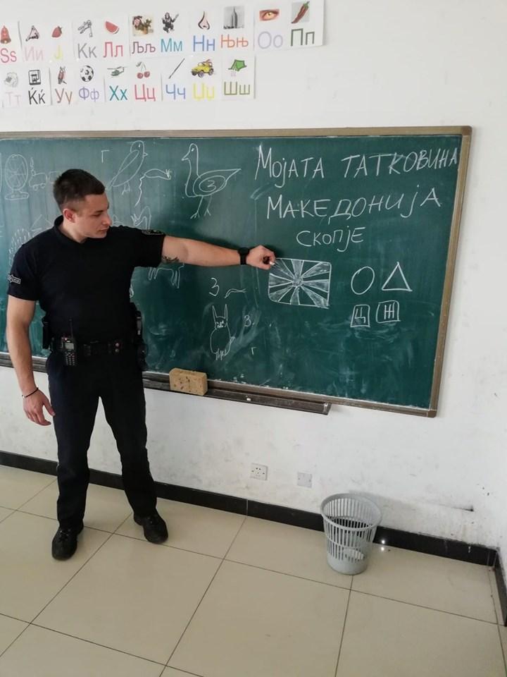ФОТО: Македонски полицаец за пример, вака се сака сопствената држава