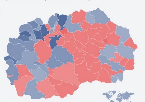 ВМРО- ДПМНЕ победи во 43 општини, СДСМ во 37 (ФОТО)