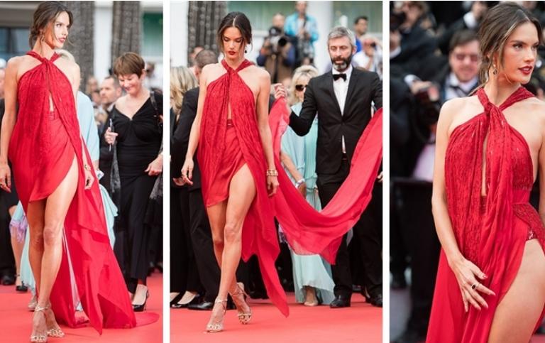 Пукаше од сексапил: Згодната манекенка во фустан кој ништо не покрива (ФОТО)