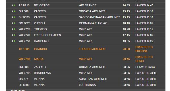 Авионот што со часови кружеше над Скопје ќе слета во Приштина