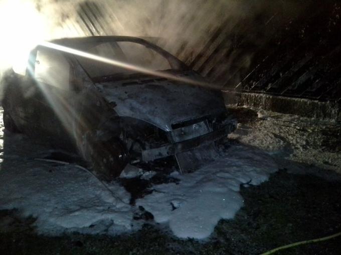 Опожарени две возила во скопски Аеродром