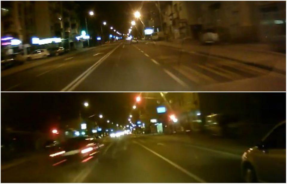 Луда трка со автомобили низ Ѓорче Петров (ВИДЕО)