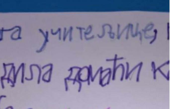 Ако учителката има чувства, на оваа домашна задача сигурно ќе стави 5-ка иако не е ниту напишана