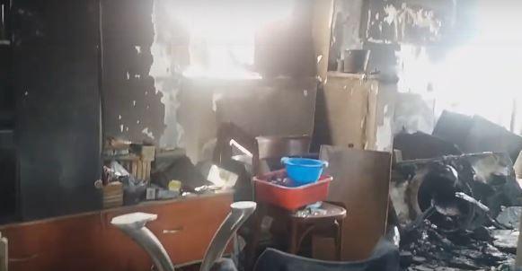 ВИДЕО: Пепел и жештина по пожарот во станот во Карпош, станарот во болница – го спасил пожарникар