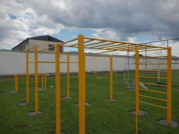 Поставена фитнес опрема во притворот во Шутка