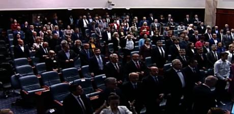 Седницата за инагурацијата на новиот претседател водена на албански јазик