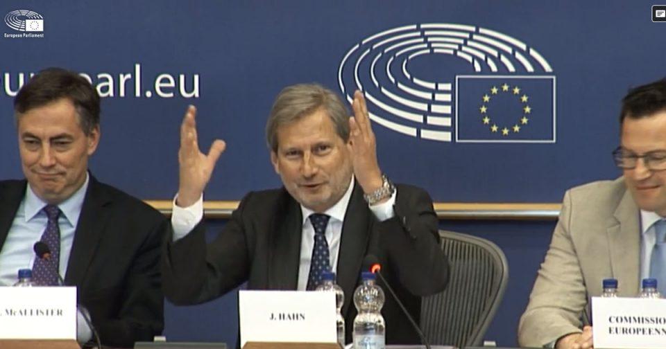 Јоханес Хан и кажа збогум на ЕУ: Ви благодарам за се до сега