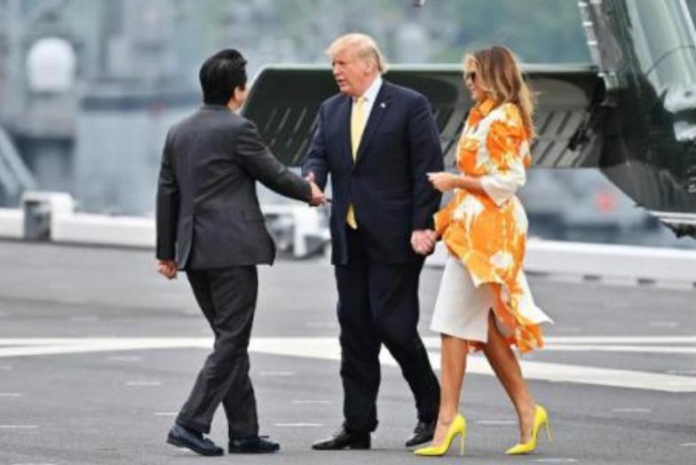ФОТО: Меланија Трамп блесна, турнејата на Доналд Трамп во Јапонија во втор план