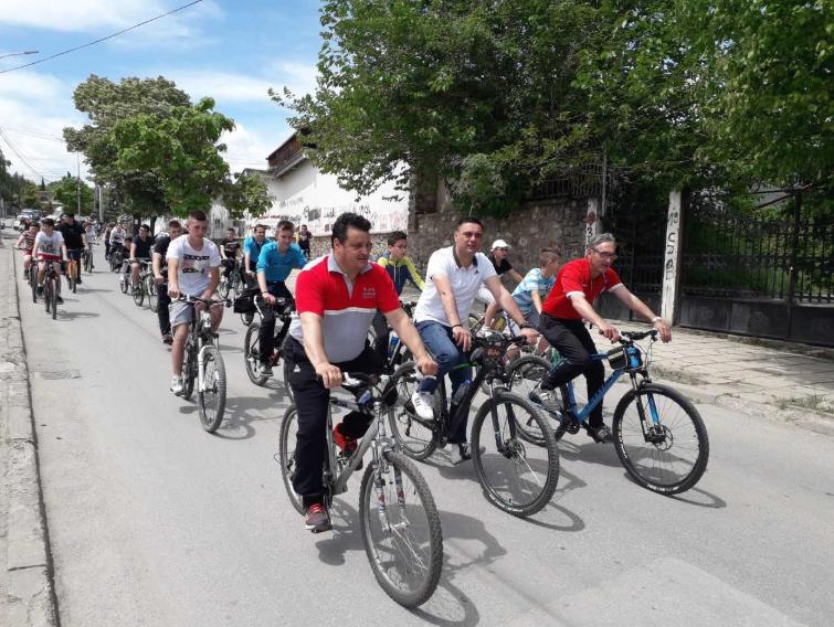 Дефиле со велосипеди во Кавадарци
