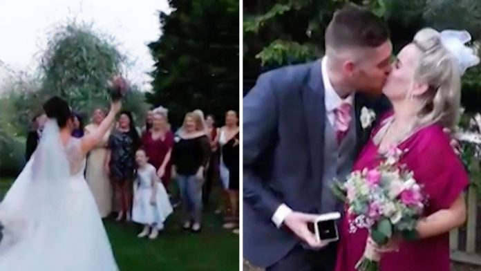 Невестата се подготвуваше да го фрли бидермаерот, но одеднаш се сврте и направи нешто неочекувано (ВИДЕО)